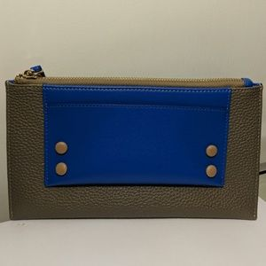 Grey & Blue NWOT Clutch